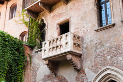 Balcony of the Juliet's House, Verona, Italy. Royalty Free Stock Images