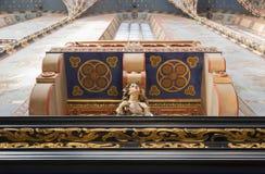 Balcony and kariotida Stock Image
