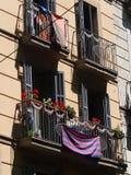 Balcony, La Rambla, Barcelona Royalty Free Stock Images