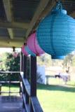 Balcony Lanterns stock photos