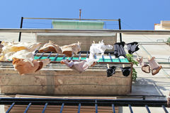Balcony Laundry Hanging Royalty Free Stock Photos