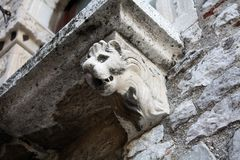 Balcony with Lion on the house Royalty Free Stock Photos