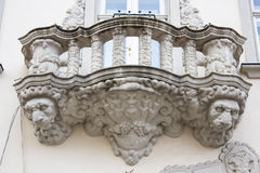 Balcony with lion Stock Images