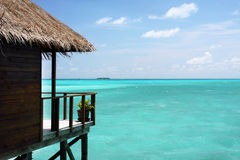 Balcony, maldives Royalty Free Stock Images