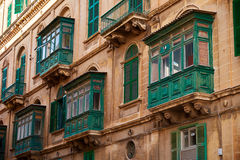 Balcony in Malta Stock Photography