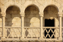 Balcony in manueline style. Belem Tower. Lisbon . Portugal. Detail of a balcony in the Torre de Belem. Lisbon. Portugal Royalty Free Stock Photos