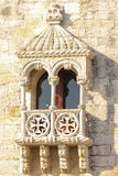Balcony in manueline style. Belem Tower. Lisbon . Portugal Royalty Free Stock Photography