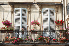 Balcony in Marseille. Architecture detail typical Provence architecture balcony in Marseille Stock Images