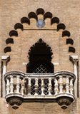 Balcony of a medieval tower in Seville Stock Photos