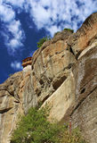 Balcony of Meteora Monastery, Greece royalty free stock images