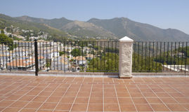 Balcony in Mijas Royalty Free Stock Photos