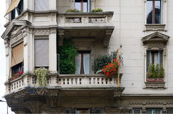 Balcony of Milan Stock Photography