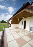 Balcony of modern house Stock Photo