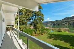 Balcony of a modern house Stock Photo
