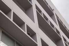 Balcony of the modern. Office building Royalty Free Stock Images