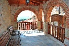 Balcony monastery Royalty Free Stock Image