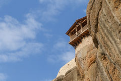 Balcony of monastery in Meteora Royalty Free Stock Photos