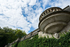 Balcony near Orangery Palace in Sanssouci Park Royalty Free Stock Photo