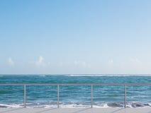Balcony near sea Stock Photography
