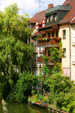 Balcony in Nuremberg Stock Image