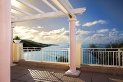 Balcony ocean view Stock Photography