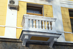 Balcony of the old building Stock Photo
