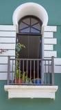 Balcony in old san juan, puerto rico. Balcony in old san juan stock photo