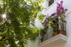 Balcony in old town, Ibiza Royalty Free Stock Photography
