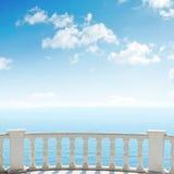 Balcony over sea and blue sky Royalty Free Stock Photo