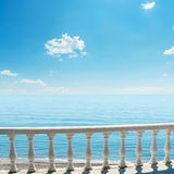 Balcony over sea and sky Stock Images