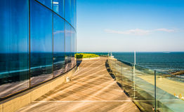 A balcony overlooking the Atlantic at Revel Hotel Casino in Atla Stock Images
