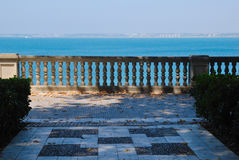 Balcony overlooking the bay of Cadiz Stock Images