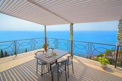 Balcony overlooking the Black Sea Stock Photos