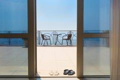 Balcony overlooking the Black Sea Stock Photography
