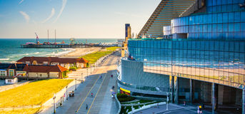 A balcony overlooking the boardwalk at Revel Hotel Casino in Atl Royalty Free Stock Image