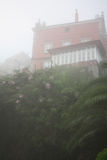 Balcony overlooking the garden. Royalty Free Stock Image