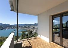 Balcony overlooking the lake Stock Photography