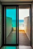 Balcony overlooking the sea Royalty Free Stock Photo