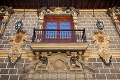 Balcony of the Palacio de la Madraza in Granada, S Stock Photo