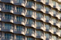 Balcony pattern. Of building in sunset time Stock Images