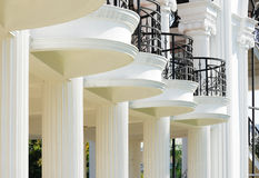 Balcony and pillars Stock Images