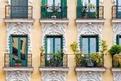 Balcony with pots Royalty Free Stock Photo