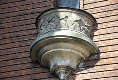 Balcony of Powder Tower from Riga in Latvia Royalty Free Stock Photos