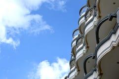 Balcony. Ranks of the balcony on a building Stock Photo