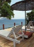 Balcony of resort hotel Royalty Free Stock Image