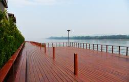 Balcony river Stock Image