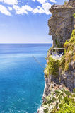 The balcony in the rocks, Italy Stock Images