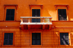 Balcony in Rome. Balcony in the center of colorful rome Royalty Free Stock Images
