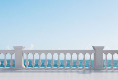 Balcony. Room with balcony with view to ocean Royalty Free Stock Photography