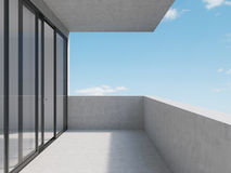 Balcony. Room and balcony with view to sky Royalty Free Stock Photography